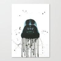 darth vader Canvas Prints featuring Darth Vader by McCoy