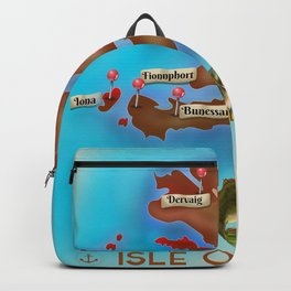 Isle of Mull travel poster. Backpack