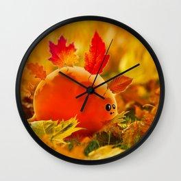 Autumn dino Wall Clock
