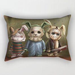 Horror Bunnies - Parody of Jason, Freddy and Michael Myers Rectangular Pillow