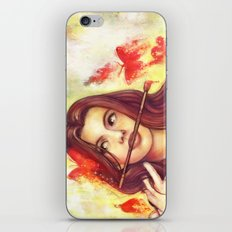 Butterfly Shout iPhone & iPod Skin