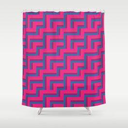 Straight Herringbone - Candy Shower Curtain