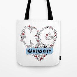 Kansas City Love Tote Bag