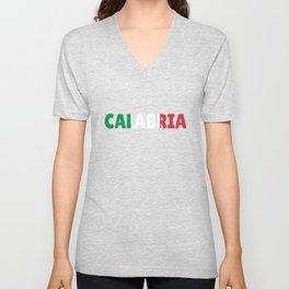 Calabria Italy flag holiday gift Unisex V-Neck
