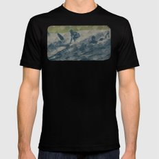 Surf LARGE Mens Fitted Tee Black