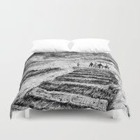 ink Duvet Covers featuring Storm - Ink by Nicolas Jolly