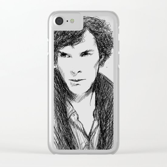 Cumbersketched Clear iPhone Case