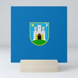 Flag of Zagreb Mini Art Print