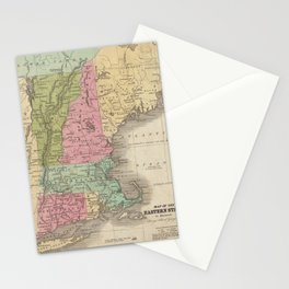 Vintage Map of New England (1829) Stationery Cards