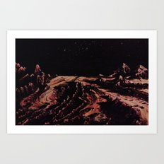 The shore of the glacier sea of Pluto Art Print