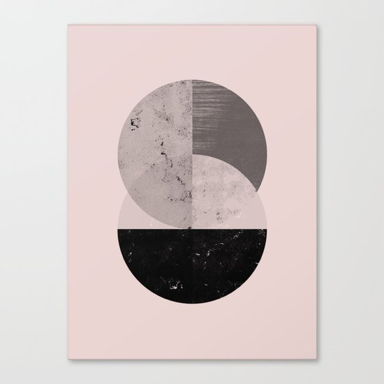 Two cycle geometric modern art Canvas Print