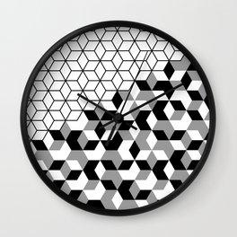 Hexagon(black) #2 Wall Clock