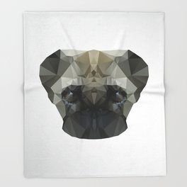 Mops Dog Throw Blanket