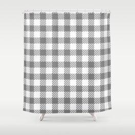 Grey Vichy Shower Curtain