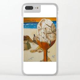 Caesarea Rock (Oil) Clear iPhone Case