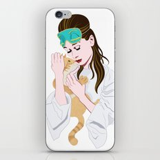 Holly Golightly's cat / Audrey Hepburn iPhone & iPod Skin