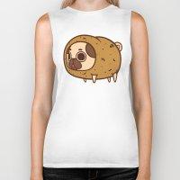 potato Biker Tanks featuring Puglie Potato by Puglie Pug