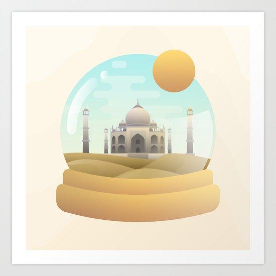 Sand Globe Art Print