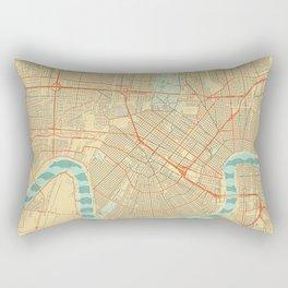 New Orleans Map Retro Rectangular Pillow