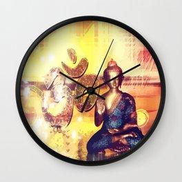 Buddha und Om Zeichen - Vektor Wall Clock