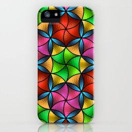 Stained Glass Star iPhone Case