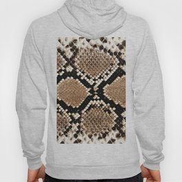 Pastel brown black white snakeskin animal pattern Hoody