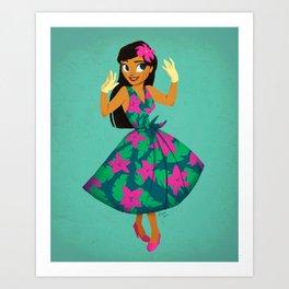Girl of Adventure Art Print