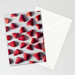FRESH - CUT - STRAWBERRIES - PHOTOGRAPHY Stationery Cards