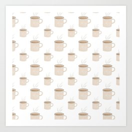 Tea and Coffee Cups Art Print