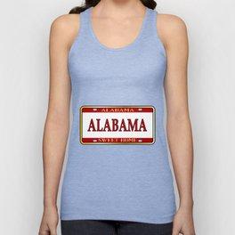 Alabama State Name License Plate Unisex Tank Top