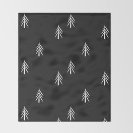 nordic fir trees Throw Blanket