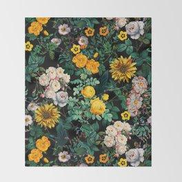 Midnight Garden XX Throw Blanket