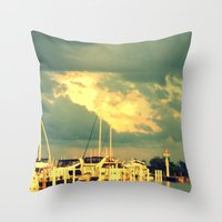 sail Throw Pillows featuring Lets Go For a Boat Ride by 2sweet4words Designs