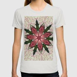 Vintage Lace Pink Rose Kaleidoscope T-shirt