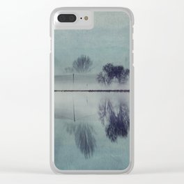Misty Mirror - Landscape Reflections Clear iPhone Case