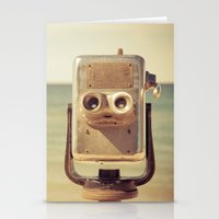 robot Stationery Cards featuring Robot Head by Olivia Joy StClaire