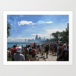 Chicago Air Show Art Print