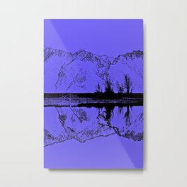 Knik River Mts. Pop Art - 1 Metal Print