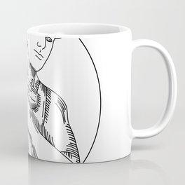 Handyman Cordless Drill Mono Line Coffee Mug