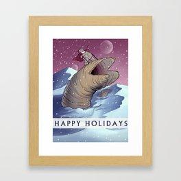 Dune Santa Framed Art Print