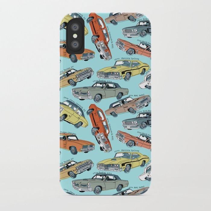 Muscle Cars Iphone Case By Mariozuccaillustration Society6