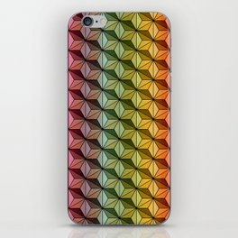 Wooden Asanoha Colorful iPhone Skin
