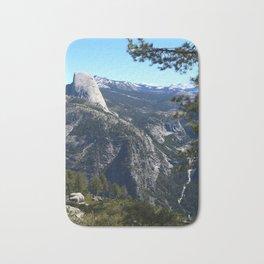 Imposing Glacier Point View Bath Mat