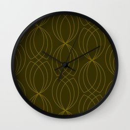 CROSS GREEN GRAPHIC DESIGN Wall Clock