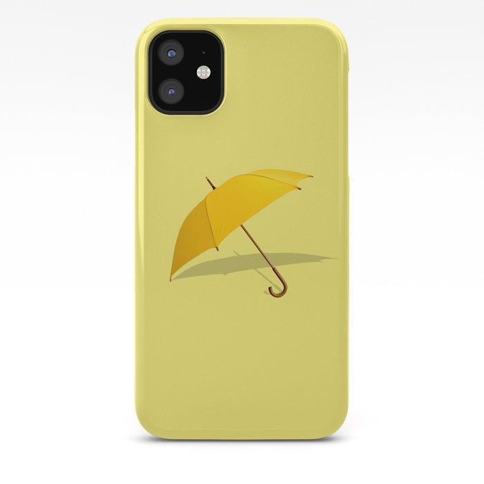 Yellow umbrella iphone case