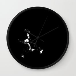 Posterized Gorilla Wall Clock