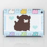 alpaca iPad Cases featuring Little alpaca by Lady Cibia