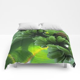 Bananas Growing Comforters