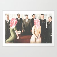 mad men Art Prints featuring Mad Men by frankmanleynelson
