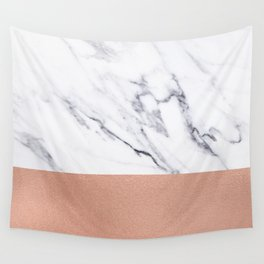 Marble Rose Gold Luxury iPhone Case and Throw Pillow Design Wall Tapestry